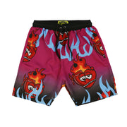 Flaming Hearts Shorts (Purple)