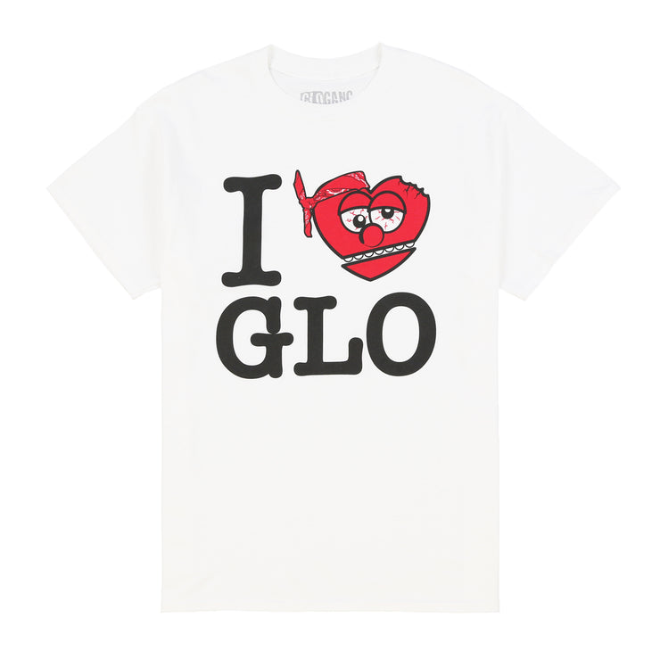 I Love Glo Tee (White)