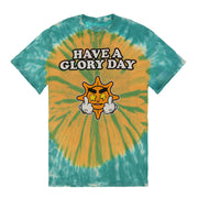 Have a Glory Day Tee (Yellow/Green Tie Dye)