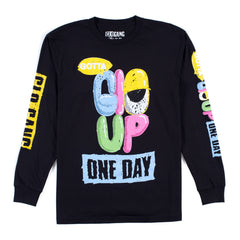 Glo Up Long Sleeve Tee (Black)