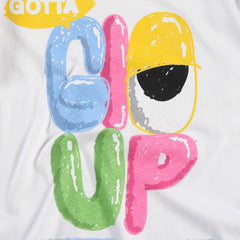 Glo Up Long Sleeve Tee (White)