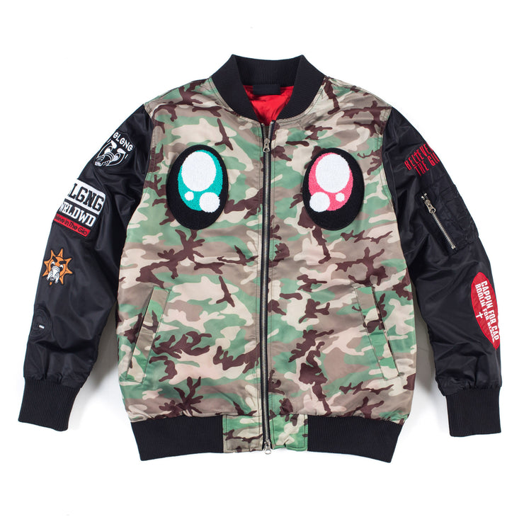 Real Eyes Bomber (Camo)
