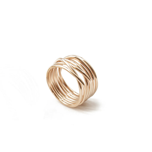 Bague Éole - Or Rose