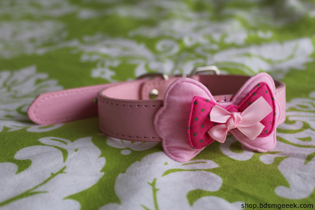 Little Bowtie Collar, Pink - BDSMGeek Shop - 3