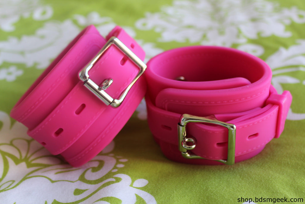 All Silicone Cuffs, Pink - BDSMGeek Shop - 2