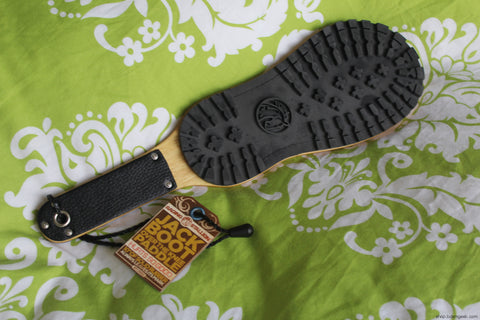 Jack Boot Rubber and Wood Paddle