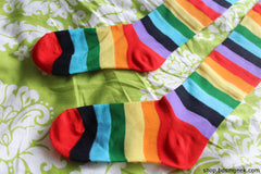 Rainbow Thigh High Socks,  - BDSMGeek Shop - 3