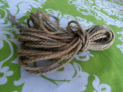 Hemp Shibari Rope, 4mm / Treated / 30ft - BDSMGeek Shop - 4