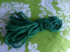 Hemp Shibari Rope, 4mm / Dyed Green / 30ft - BDSMGeek Shop - 6