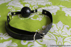 Leather/Plastic Breathable Gag,  - BDSMGeek Shop - 4