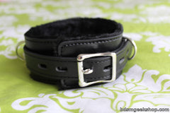 Leather Furry Collar and Leash,  - BDSMGeek Shop - 3