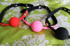 Silicone Ball Gag with Leather Strap