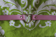 Heart Shaped Choker, 2 cm / Pink - BDSMGeek Shop - 10
