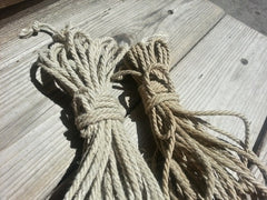 Hemp Shibari Rope, 4mm / Untreated / 30ft - BDSMGeek Shop - 1