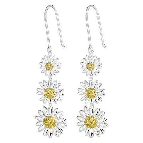 Daisy English Triple Drop Earrings E2010
