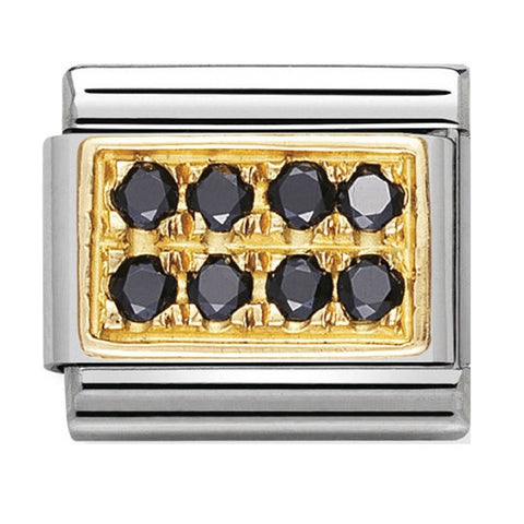 Nomination 18ct Gold Black Pavé Charm 030314 10