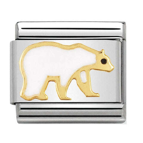 Nomination 18ct Gold & Enamel Polar Bear Charm 030248 08