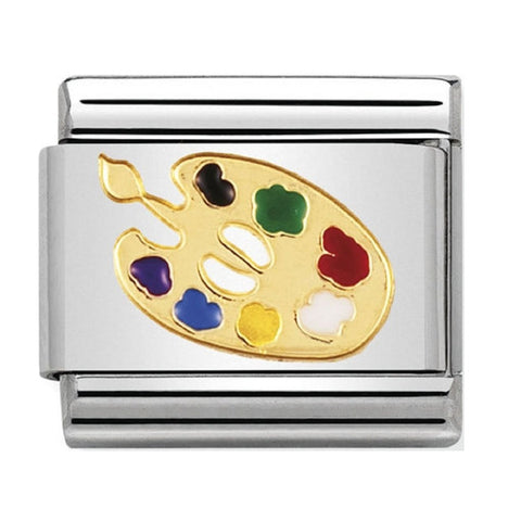 Nomination 18ct Gold & Enamel Artist Palette Charm 030208 04