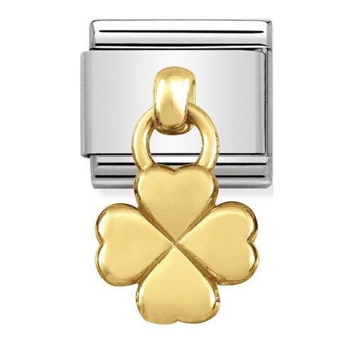 Nomination Hanging Gold Clover Charm 031800 02