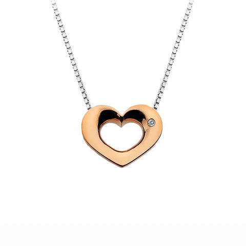 Hot Diamonds Rose Gold Emerge Open Heart Pendant DP585 2004361