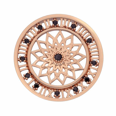 Hot Diamonds Emozioni Rose Gold Plated Time Traveller 33mm Coin EC156 2108143