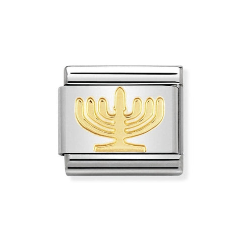 Nomination 18ct Gold Menorah Charm 030105 10
