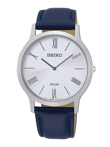 Seiko Blue Leather Gents Solar Watch SUP857P1