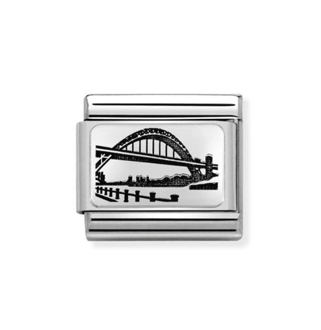 Nomination Silver & Enamel Tyne Bridge Charm 330111 05 Pre Order