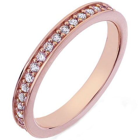 Hot Diamonds Emozioni Rose Gold Purity Ring ER008 2101117