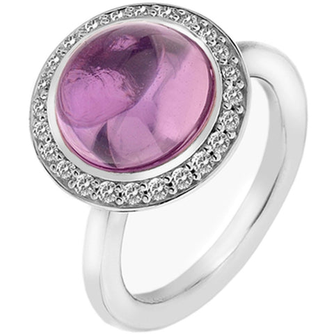 Hot Diamonds Emozioni Pink Laghetto Ring ER014 2101014