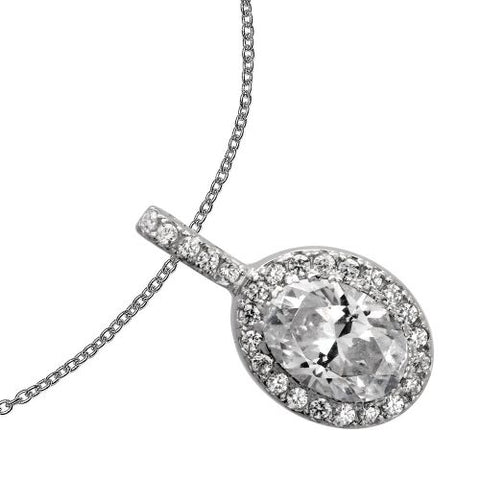 Diamonfire CZ Halo Pendant 65/1202/1/082
