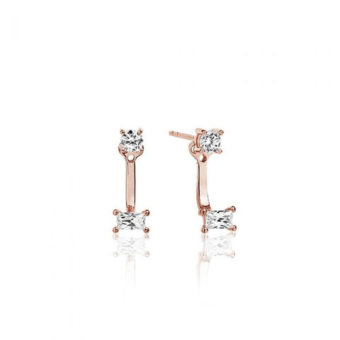 Sif Jakobs - Antella Rose Gold & White CZ Ear Jackets SJ-E1043-CZ(RG) 4003483 SALE