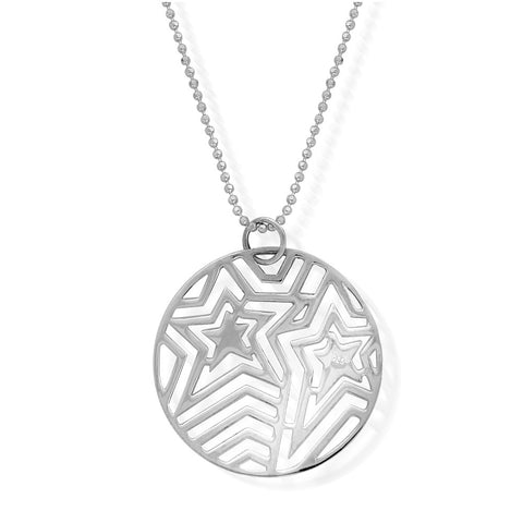 ChloBo - Filigree Star Pendant Sterling Silver Necklace SCDC2447 X