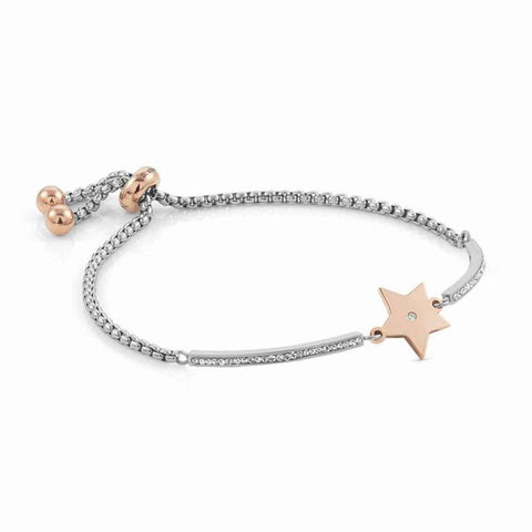 Nomination - Milleluci Star Rose Gold Toggle Pave Half Bangle Bracelet 028004 23