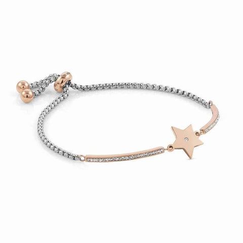 Nomination - Milleluci Star Rose Gold Toggle Pave Half Bangle Bracelet 028005 23