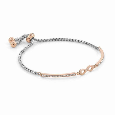 Nomination - Milleluci Infinity Rose Gold Toggle Pave Half Bangle Bracelet 028005 24