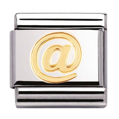 Nomination Stainless Steel and 18ct Gold Shopping Bag Charm 030109 22