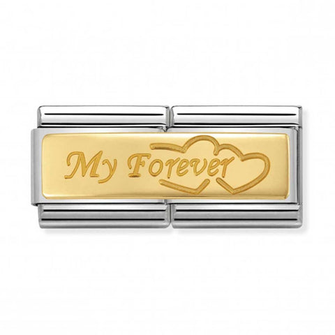 Nomination 18k Gold My Forever Double Link Charm 030710 09