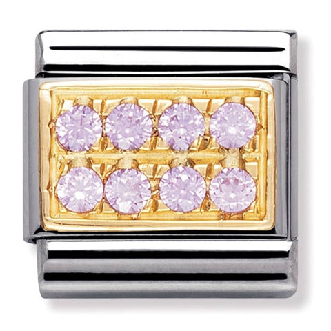 Nomination 18ct Gold Pink Pavé Charm 030314 06