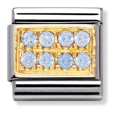 Nomination 18ct Gold Light Blue Pavé Charm 030314 05