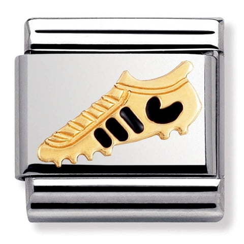 Nomination 18ct Gold & Enamel Black Football Boot Charm 030204 20