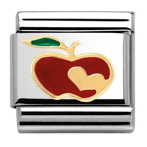 Nomination 18ct Gold & Enamel Apple with Heart Charm 030285 11