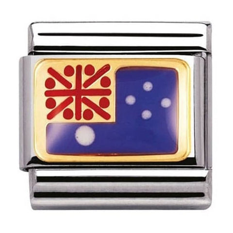 Nomination 18ct Gold & Enamel Australia Flag Charm 030238 01
