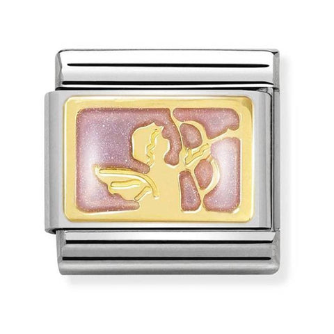 Nomination 18ct Gold & Enamel Attraction Messenger Angel Charm 030284 32