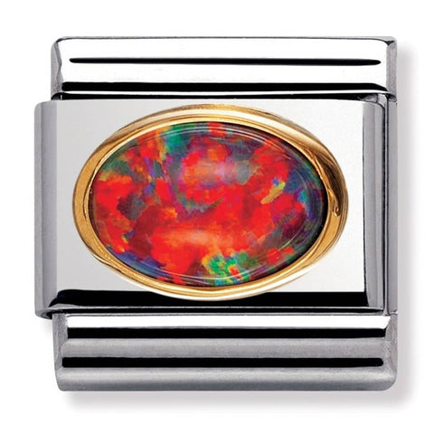 Nomination 18ct Gold & Enamel Rainbow Peace Flag Charm 030234 25