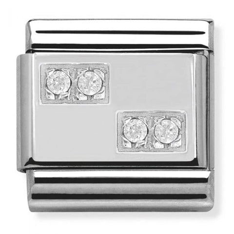 Sif Jakobs - Siena Sterling Silver & White CZ Earrings SJ-E1011-CZ 4003304 SALE