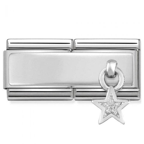 Nomination Double Link Glitter Star Charm 330780 04