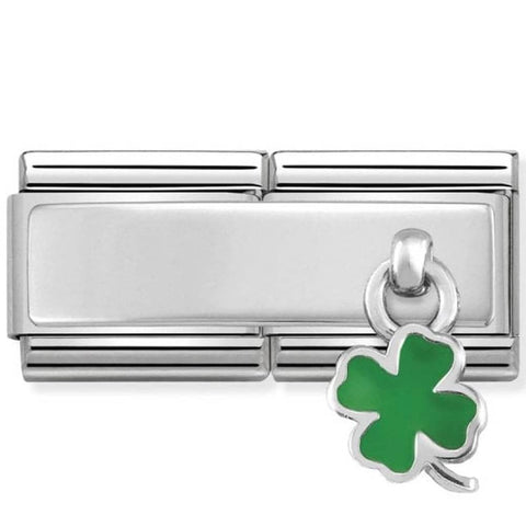 Nomination Double Link Four Leaf Clover Charm 330780 05