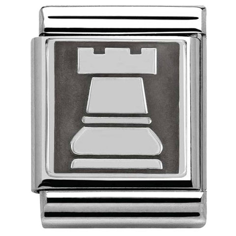 Nomination BIG Silver Tower Charm 332110 02
