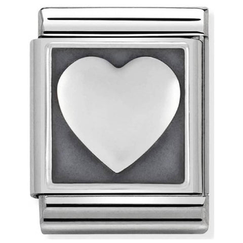 Nomination BIG Silver Heart Charm 332110 08